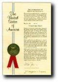 Couverture d'un brevet américain