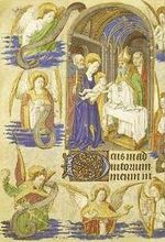 Une page enluminée d'un manuscrit médiéval
